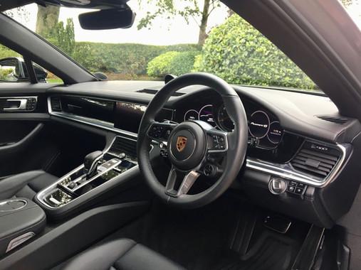 Silver Porsche Panamera 4s Interior