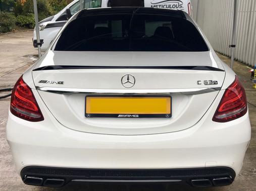 White Mercedes-AMG C63 S