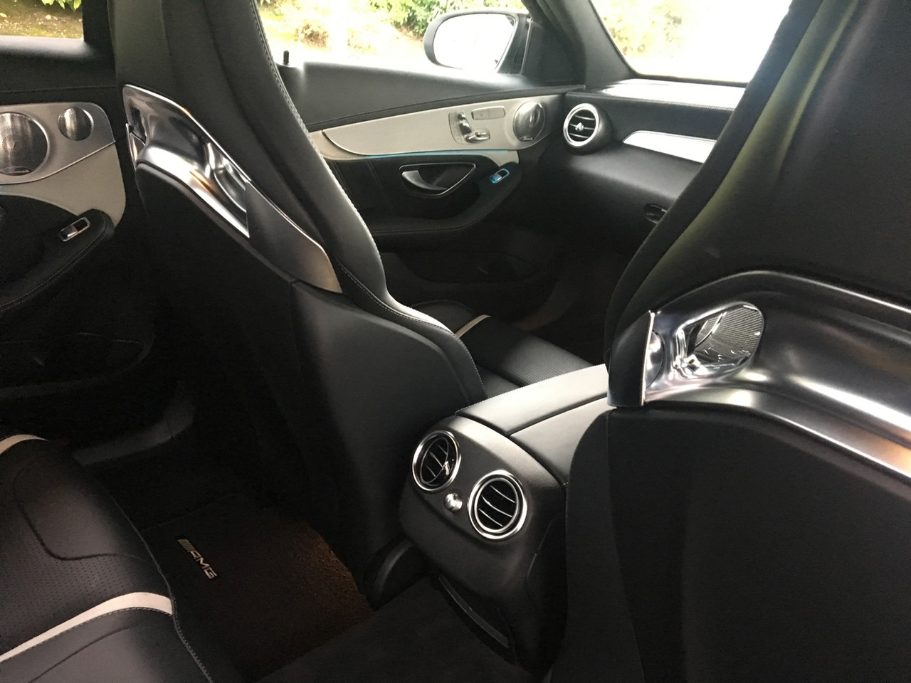 White Mercedes-AMG C63 S Interior