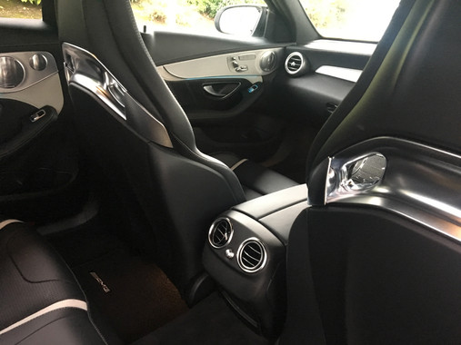 White Mercedes-AMG C63 S Interior