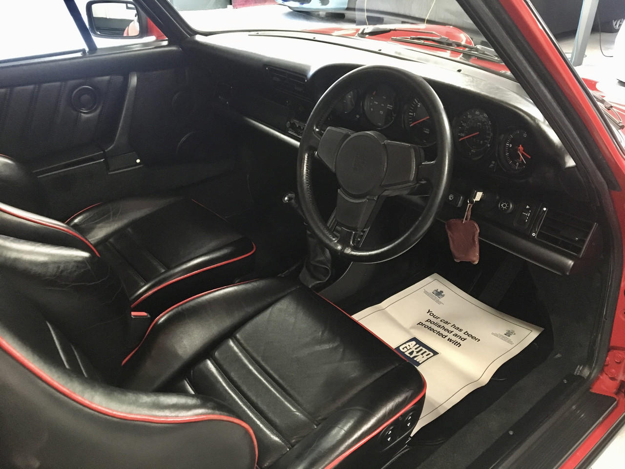 Red Porsche 911 Carrera Interior