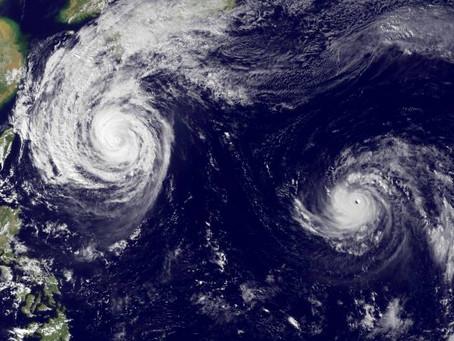 Como estar anticiparte a las olas en época de Typhoon en el Pacifico Sur.