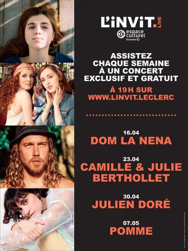 Les Espaces Culturels E.Leclerc lancent L'Invit.Live