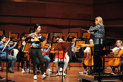 Rehearsing Mozart Flute Concerto in D, w