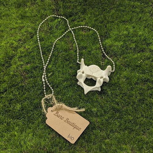 Wild Boar Cervical Vertebrae Necklace Ball Chain