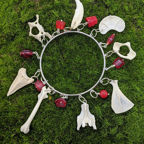 "3"" Bangle Bracelet Red"