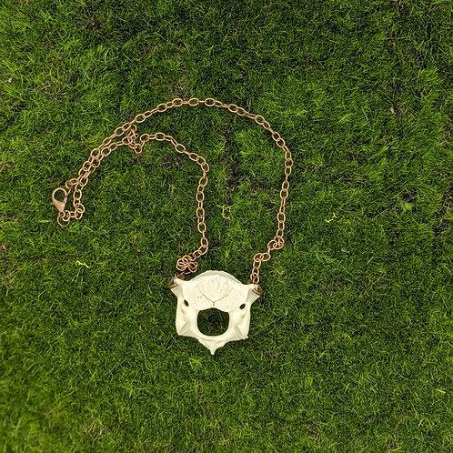 Wild Boar Cervical Vertebrae Necklace Copper Color