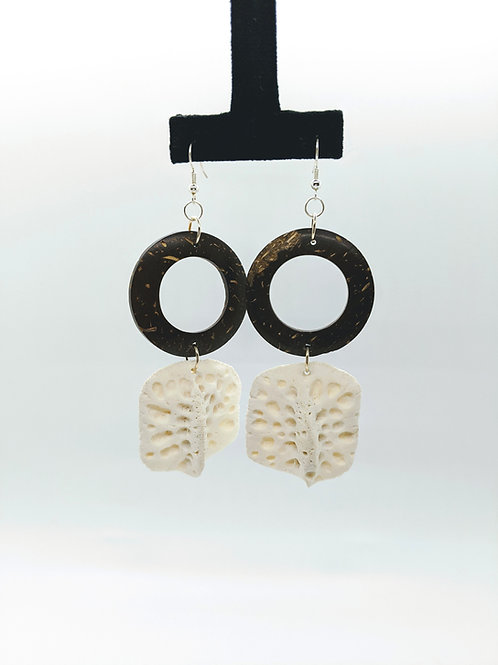 Alligator Osteoderm Earrings