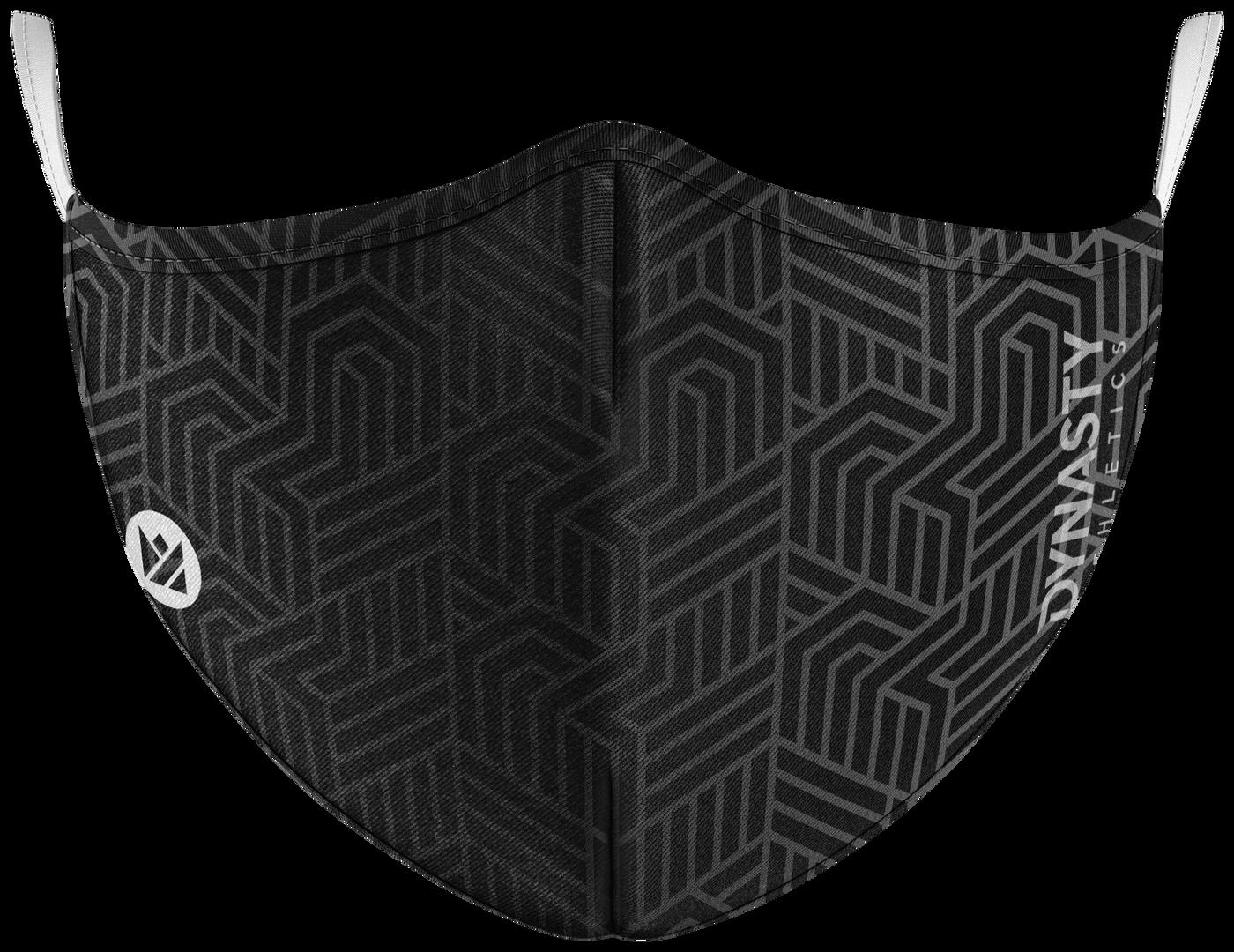 Monochrome Maze Mask Front.png