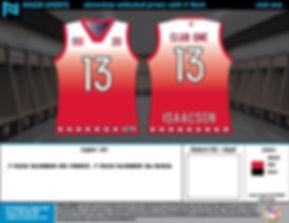 Sublimated Volleyball Jersey Mock Up