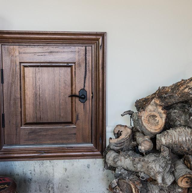 Custom Wood Shoot Door