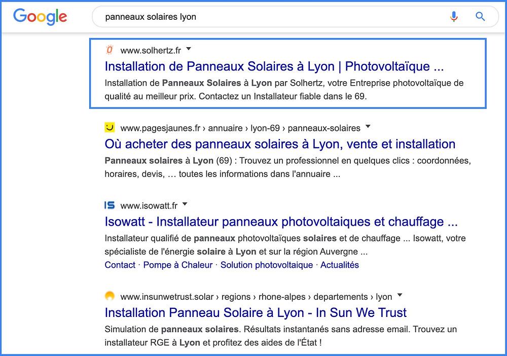 référencement de site wix en 1ère page de google à Lyon 69
