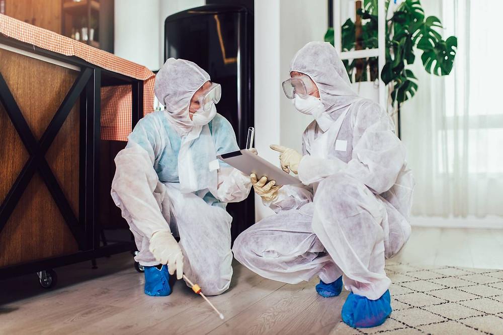 comment se déroule un nettoyage de maison après décès suicide homicide