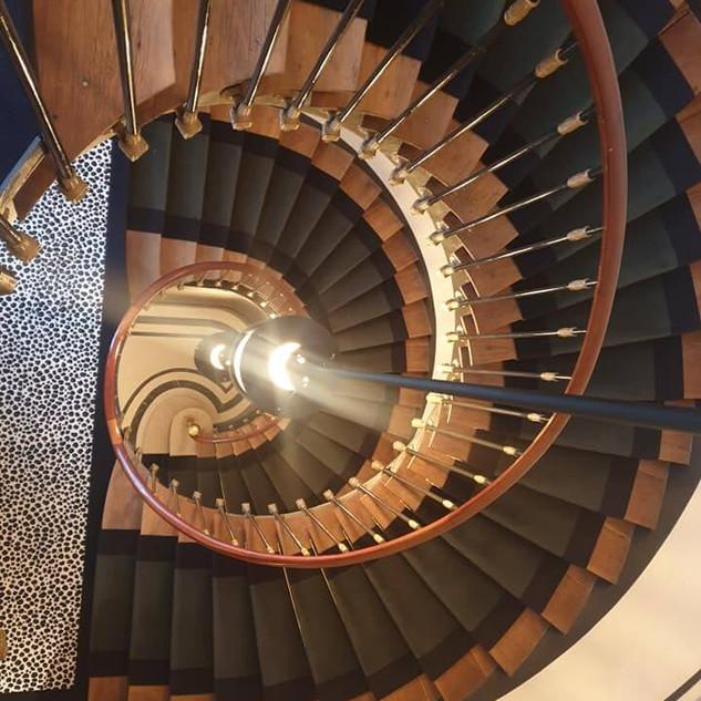 Passage d'escalier