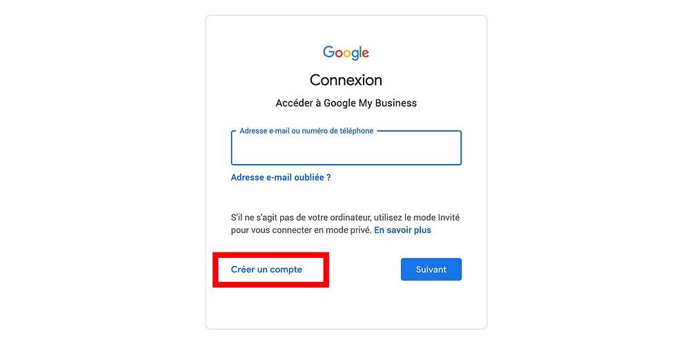 connexion google my business avec gmail outlook hotmail
