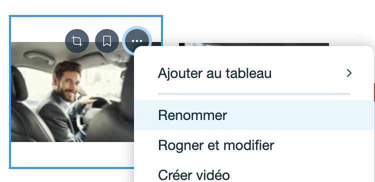 comment renommer image sur wix alt text