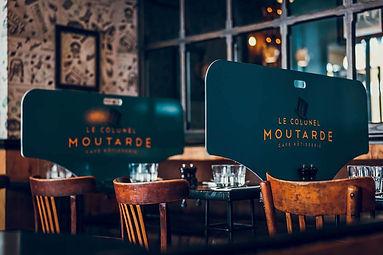 séparation de table paroi amovible pour restaurant à Paris