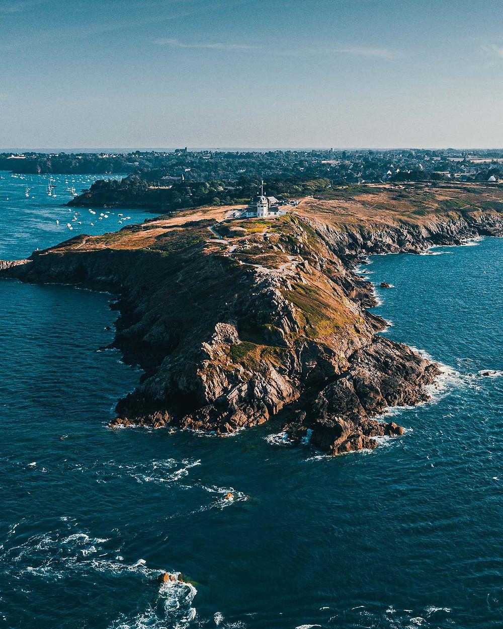 Bretagne vue du ciel en drone