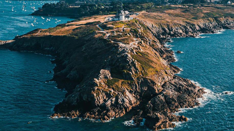 La Bretagne vue du ciel grâce au drone.