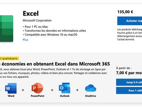 Excel : faut-il encore acheter ce logiciel?