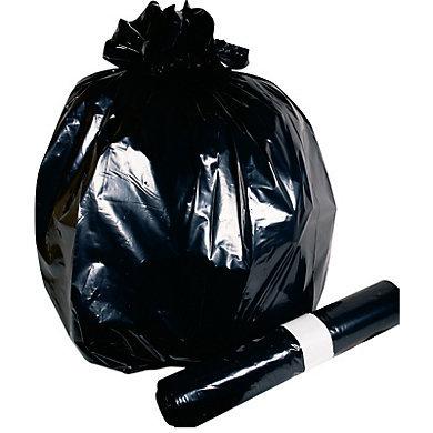 20 Sacs poubelles 130l NOIR EXTRA