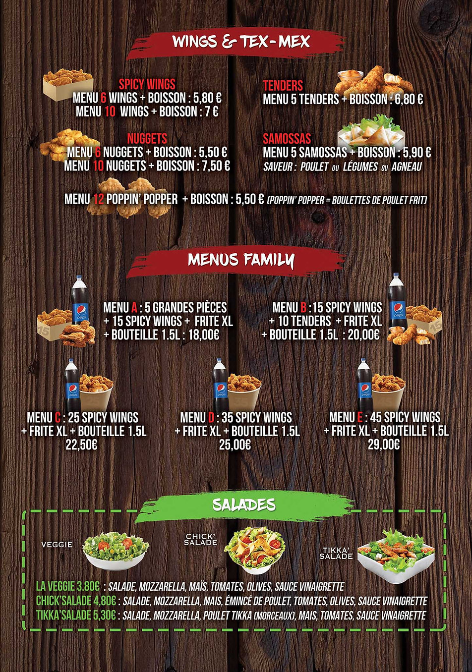 menu wings tex mex fs chicken