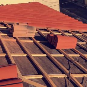 chantier sur toiture à Marseille