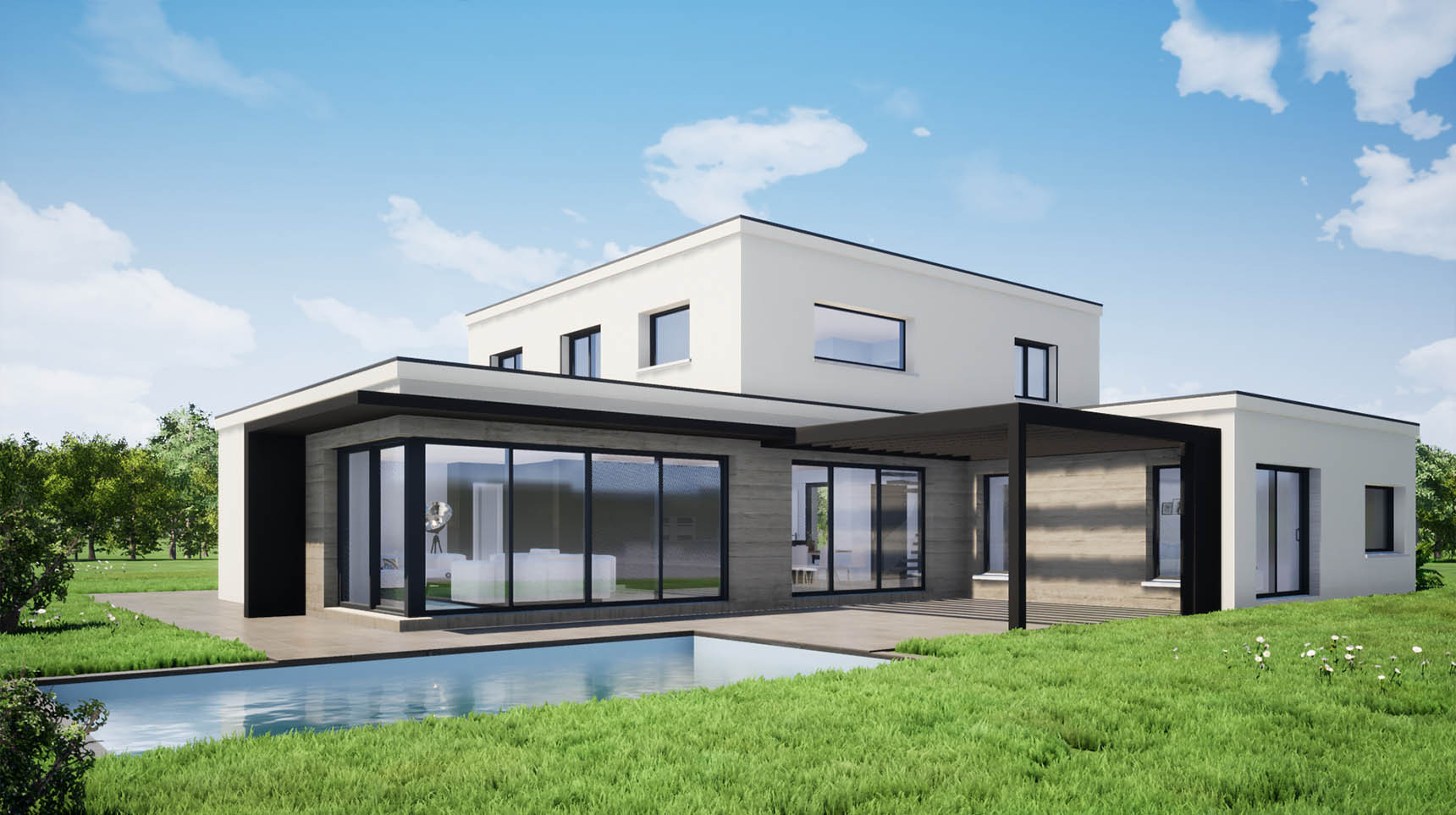 Architecture d'une maison individuelle