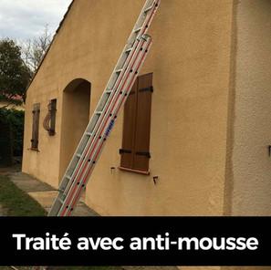 Anti mousse façade avant après