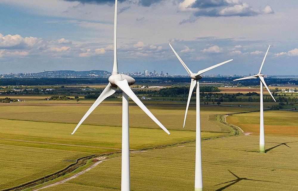 inspection éolienne avec drone