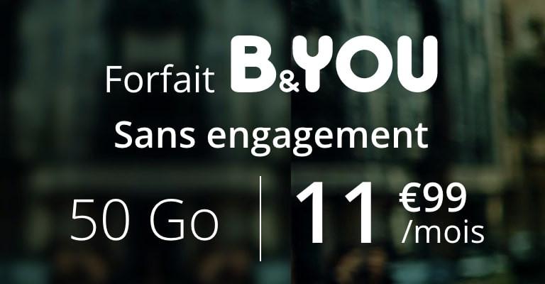 Bon plan b&you forfait 50go