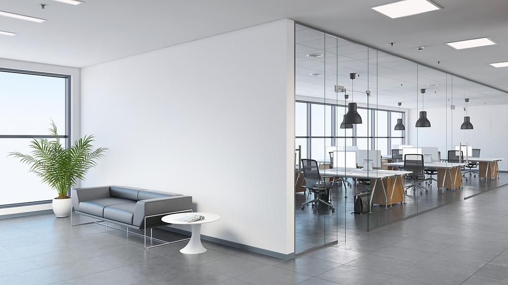 aménagement de bureaux cloisons amovibles