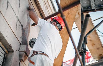 restauration de fissure sur façade