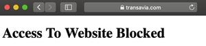 transavia bloque les VPN sur son site