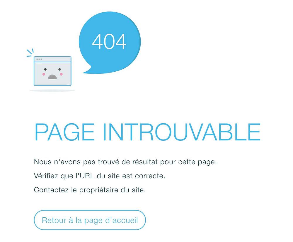 erreur 404 wix