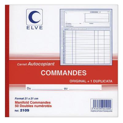 BONS DE COMMANDE 21CM X 21CM