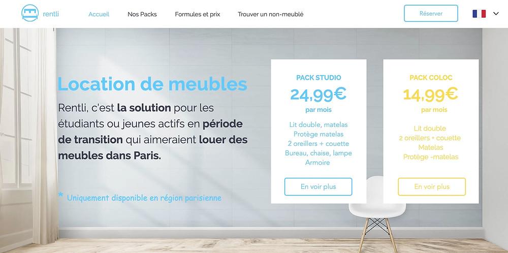 rentli avis , louer des meubles étudiant paris
