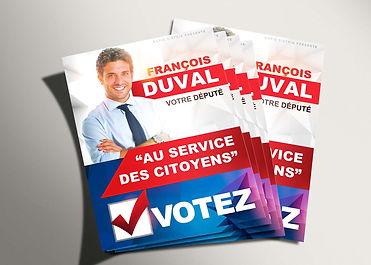 Distribution de tracts électoraux
