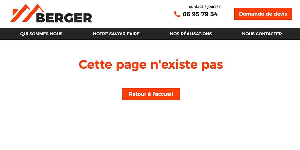 exemple de page erreur 404 personnalisée