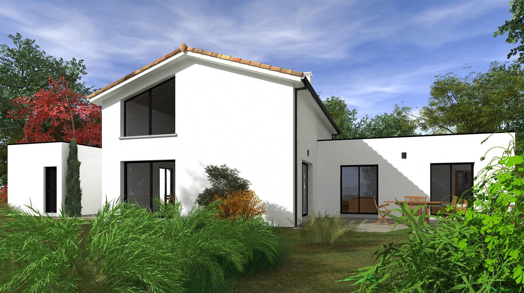 Architecture d'une maison dans le 33