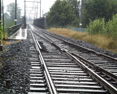 pont ferroviaire sur le tech chevauchement 2 voies