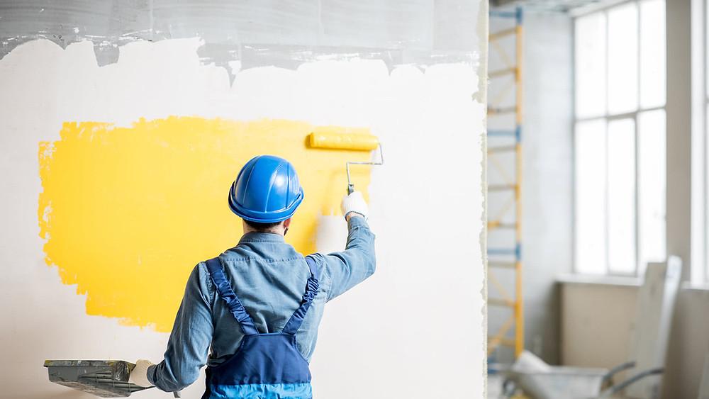 Peindre un mur méthode professionnelle de peintre