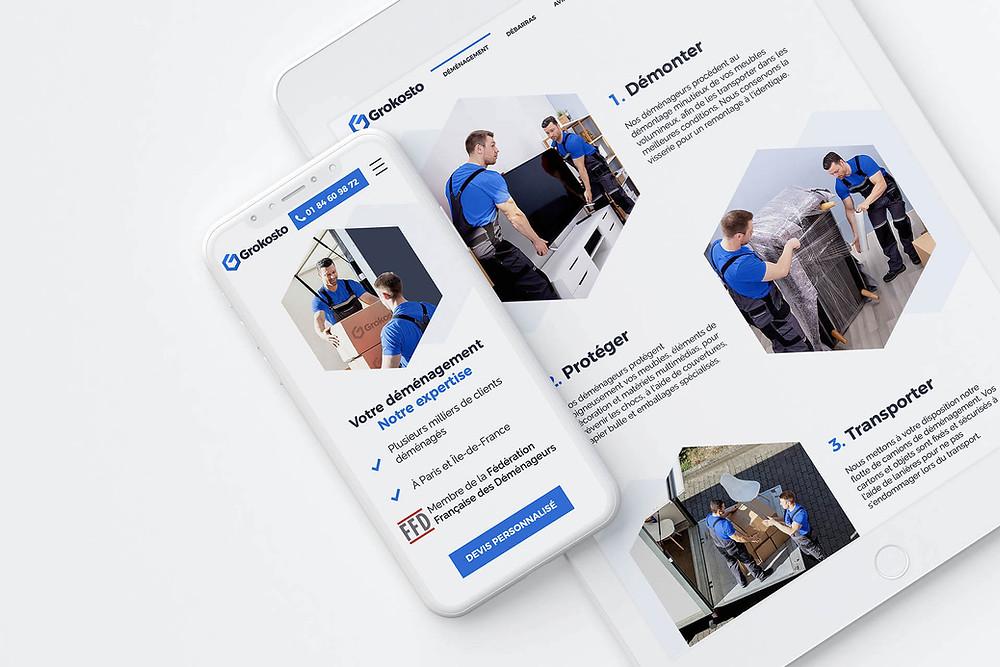 exemple de site web Wix pour entreprise