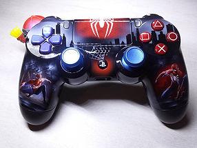 manette playstation ps4 custom spider-man