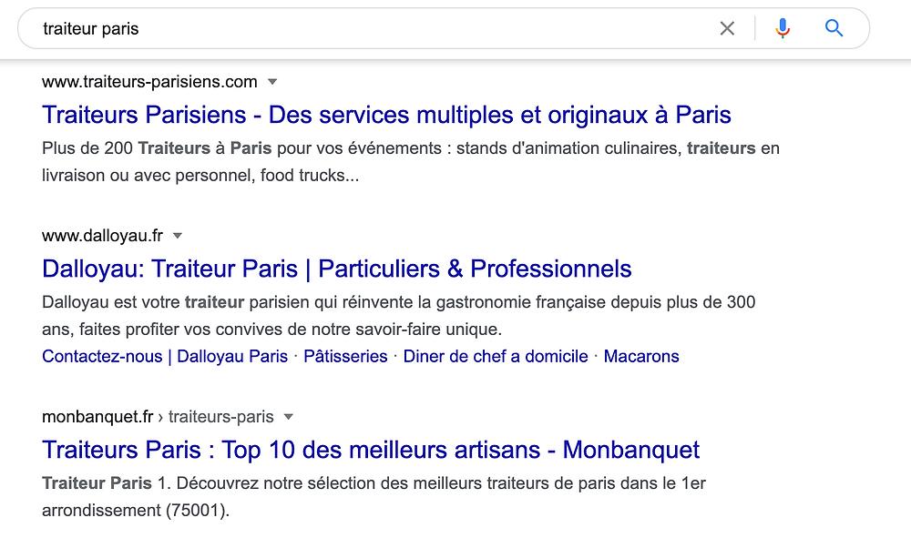 serp google avec site wix