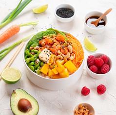 Poke bowl végétarien bio
