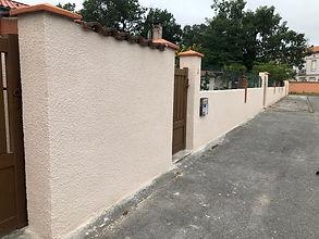 enduit pour façade mur extérieur
