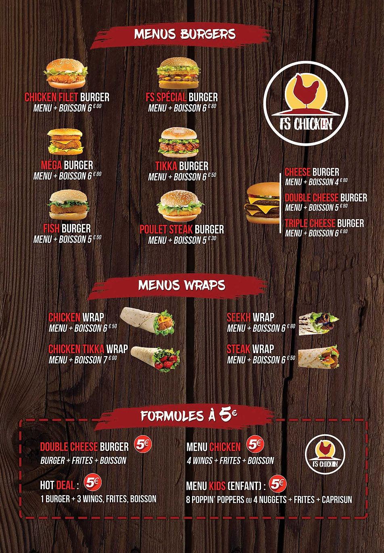 menu burger livraison 95400