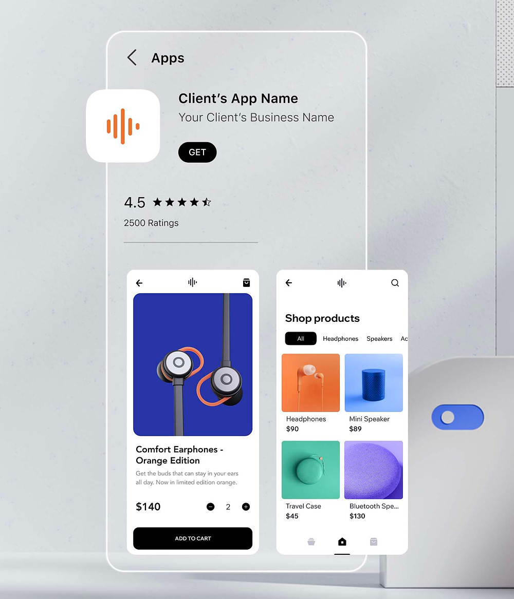 branded app by wix application mobile