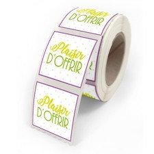 500 Étiquettes PLAISIR D'OFFRIR